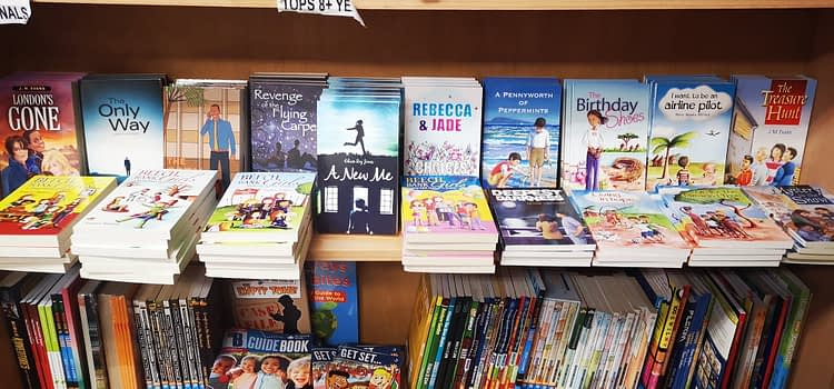 Dernier books on sale at Manna Christian Bookshop