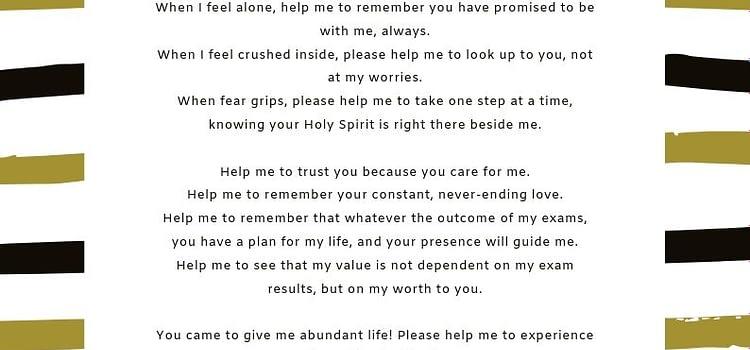 Exam prayer
