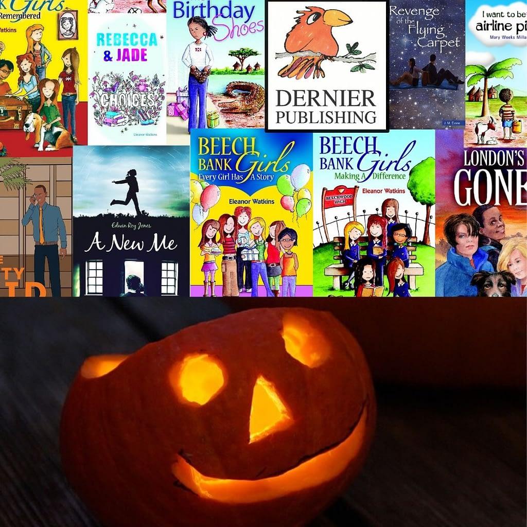 Christian books with a pumpkin