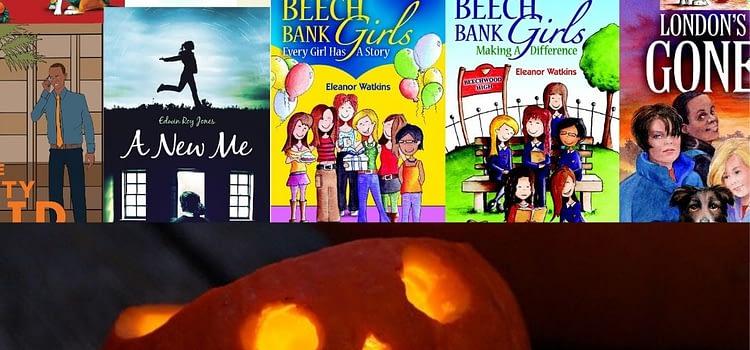Christian books and a pumpkin