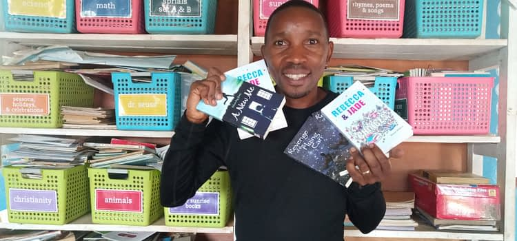 Dyslexia friendly books for children in Rwanda