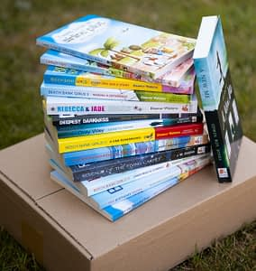 Box of Dernier Publishing Books