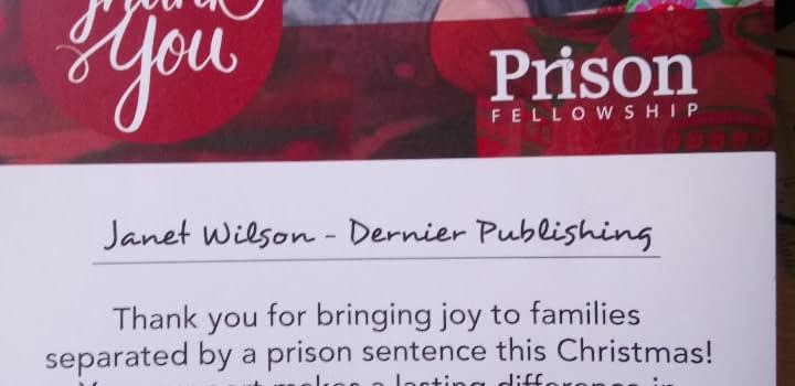 Prison Fellowship thank you letter