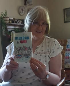 Eleanor Watkins with her latest book, Rebecca and Jade: Choices